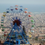 Tibidabo, the mountain overlooking Barcelona